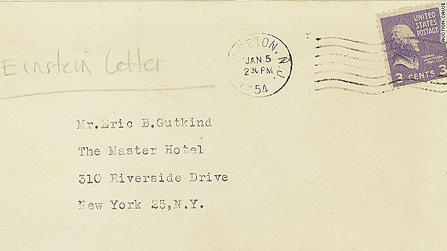 Einstein letter, set for auction, shows scientist challenging idea of God, being 'chosen'
