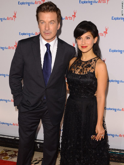 Alec Baldwin and Hilaria Thomas attend an event in New York City.