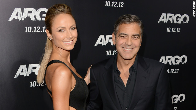"Stacy Keibler: Clooney dated reality TV and WWE star Stacy Keibler from 2011 to 2013. He was hesitant to discuss his romance with Keibler, as he told the Hollywood Reporter in 2012, ""there is so little in my life that is private."" News spread in July that the two had broken up for an undisclosed reason. Keibler went on to marry entrepreneur Jared Pobre in Mexico in March."