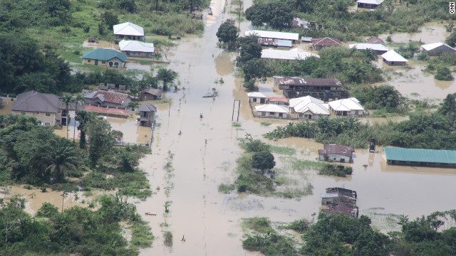 Dozens of people have died in flooding in parts of Nigeria.