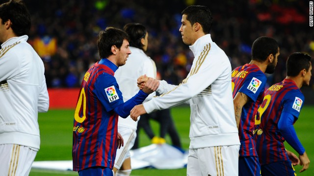 """El Clasico"" also brings together the best two players on the planet. Cristiano Ronaldo of Real Madrid, right, has started the season in fine form and scored a hat-trick in Wednesday's European Champions League defeat of Ajax. But it is Barca's Lionel Messi who is revered by many as the finest player in the world. The Argentine has won the FIFA World Player of the Year award in each of the last three seasons."