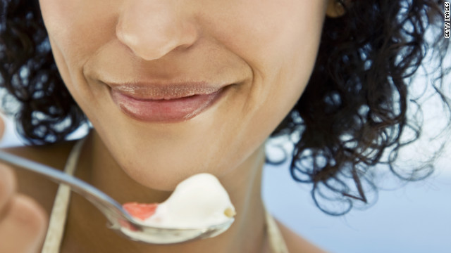 Calcium helps the body slim down  and yogurt has up to 50% more of it per ounce than milk.