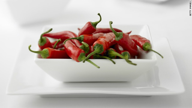 The heat in chilis is the product of capsaicin, which can help burn 50 to 100 calories following a meal.