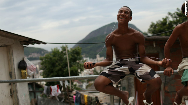 Imitations of well known smartphones are commonly traded on the favelas' &quot;grey market&quot;, with brands such as &quot;HiPhone&quot; offering music, touch screens, GPS and digital TV, just like their highly priced rivals.