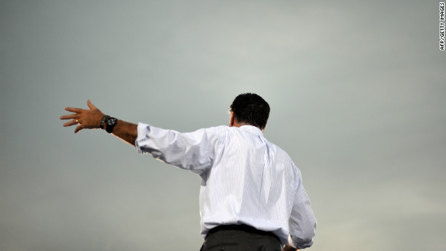 Romney speaks during a campaign event in St. Petersburg, Florida, on Friday, October 5.