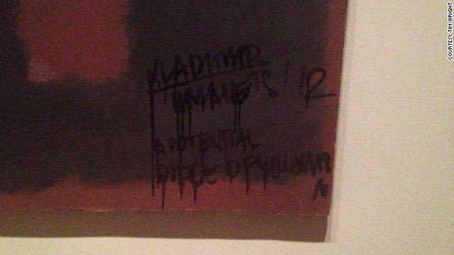 Rothko painting defaced in London