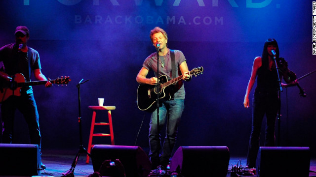 Jon Bon Jovi performs at an Obama for America event at the House of Blues in Las Vegas on Saturday. It was the last day people in Nevada could register to vote in the upcoming presidential election.