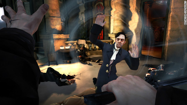&quot;Dishonored,&quot; a stealth adventure game set in a grimy industrial city, offers a first-person perspective and an emphasis on player choice.