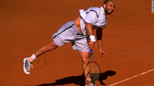 Agassi won five of his eight grand slams in the latter half of his career and was world no.1 at the age of 33. &quot;When you stop and think about it, that's amazing,&quot; Reyes says. The 1999 French Open was one of Agassi's greatest acheivements, coming back from two sets to love down to win in five sets against Ukraine's Andrei Medvedev. 