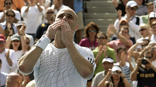 "Agassi bids farewell to his playing days in the third round at the 2006 U.S. Open. ""He was a factor all the way through,"" says Reyes. ""I can say, honestly, that he was, if not the strongest player on the tour, one of the strongest. Playing to 36 in this day's game it takes a lot."""