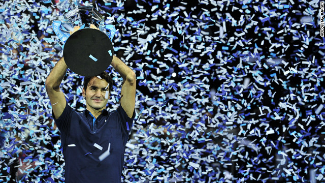 As the season draws to a close, Federer will be looking to defend his ATP Tour Finals title he won in 2011 (pictured). The six-time winner is already the oldest champion in the tournament's history. He's a class apart, Reyes says. &quot;Roger is a perfect athlete -- his movement, his game, his mental, his physical. There's Roger and then there's everyone else.&quot; 