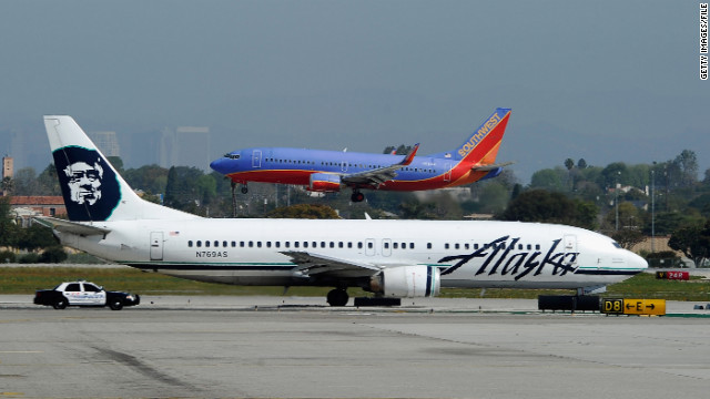 Severed telecommunications cables disrupted ticketing and airport check-in systems at Alaska Airlines on Monday.
