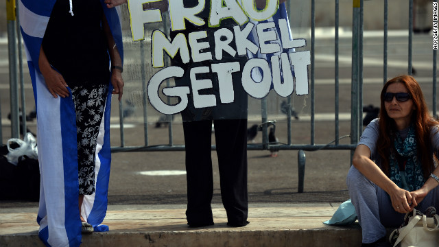 Need to Know News: Protesters rally as Merkel visits austerity-hit Greece; North Korea says it has missiles that can reach the United States