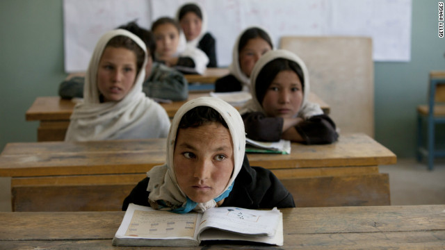 In the peaceful province of Bamiyan, Afghanistan, girls attend school without fear, unlike in Taliban-heavy areas.