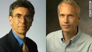 Research by Robert J. Lefkowitz, left, and Brian K. Kobilka has increased understanding of how cells sense chemicals.
