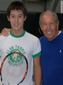 Nishikori is yet another talent to come from Nick Bollettieri's famous Florida academy. The star moved to the U.S. from Japan as a 13-year-old without knowing a word of English.