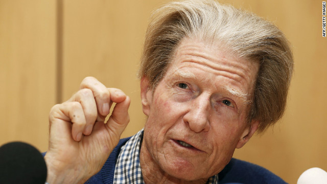 Sir John Gurdon speaks Monday at a press conference after being awarded the<br />