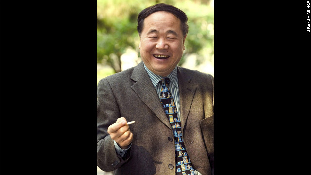 Chinese writer Mo Yan won the 2012 Nobel Prize for literature on Thursday, October 11, for works which combine &quot;hallucinatory realism&quot; with folk tales, history and contemporary life grounded in his native land. Picture taken October 19, 2005.