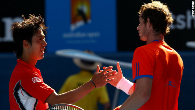 Nishikori became the first Japanese player to reach the Australian Open quarterfinals for 80 years in January 2012. His defeat to Andy Murray showcased the difference in size between the then 22-year-old and the game's leading players, who are all over six foot.