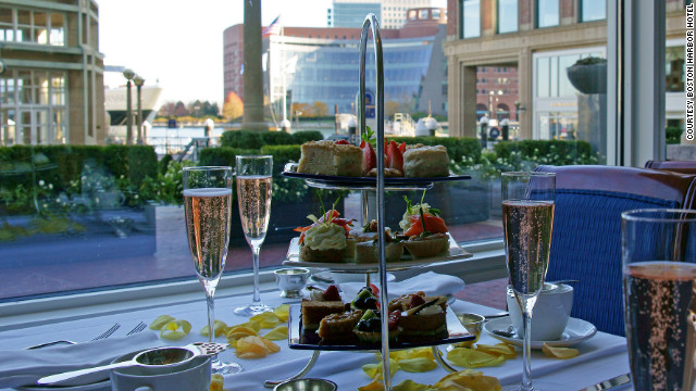 Boston Harbor Hotel chef Daniel Bruce's Harvest Tea menu infuses the flavors of fall into sweet and savory items.