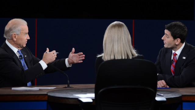 On Facebook, VP debate beats Oscars, falls short of pres debate