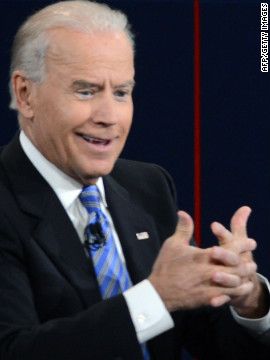 Vice President Biden gestures to accentuate his point.