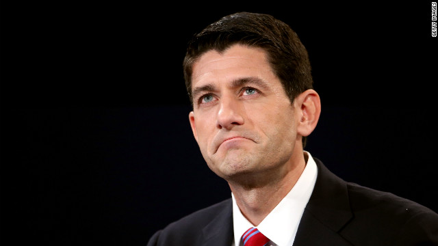 Rep. Paul Ryan listens closely during the debate.