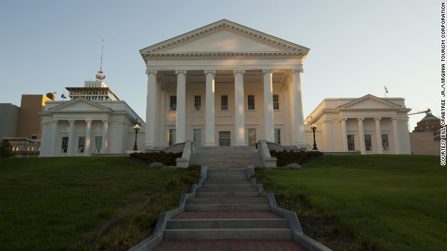 In &quot;Lincoln,&quot; the Virginia State Capitol doesn't actually play itself. Director Steven Spielberg dressed it up as the national Capitol instead.