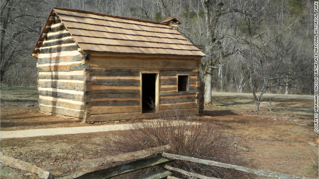 Lincoln's earliest memories are of his boyhood home at Knob Creek. That cabin has been recreated for visitors.