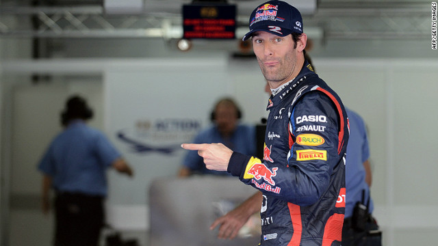 Mark Webber will start the Korean Grand Prix from pole after edging out teammate Sebastian Vettel in Saturday's qualifying.