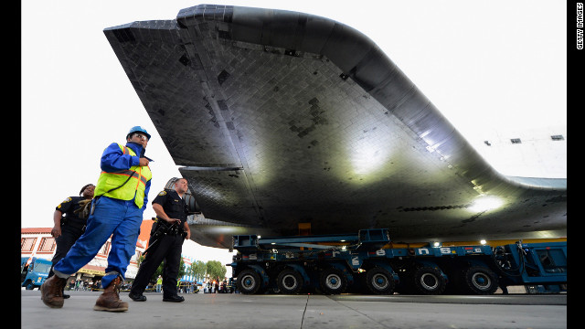 Endeavour is expected to arrive late Saturday at the California Science Center, where it will be put on permanent display.