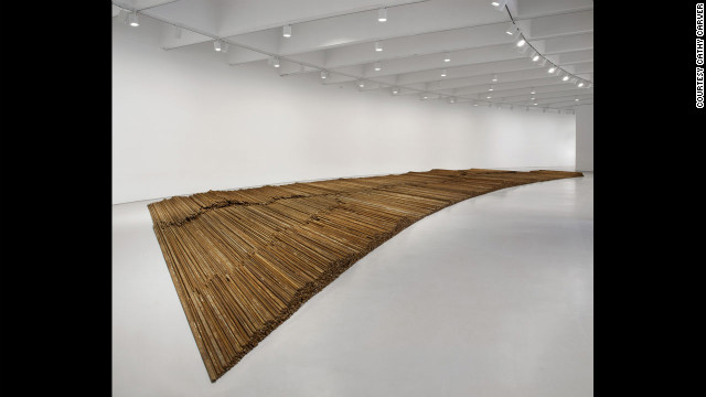 """Straight"" (2008-12) is made up of 38 tons of steel rebar collected from buildings that collapsed in the Sichuan earthquake."
