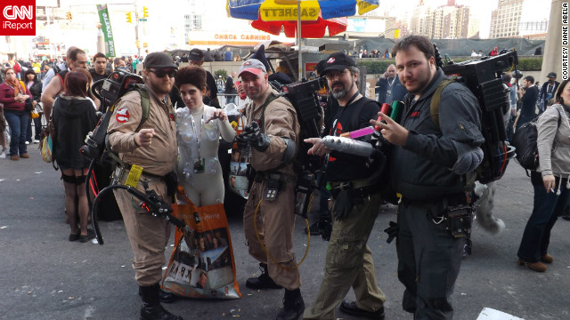 Who ya gonna call? No group of heroes fits in better on the streets of New York City than the Ghostbusters, from the 1984 film of the same name (and shot in New York). Ghostbusters are a popular costume choice, but it's rare to find the evil Gozer the Gozerian with them.<br/><br/><a href='http://ireport.cnn.com/docs/DOC-857838' target='_blank'>See more photos on Diane Abela's iReport</a>.<br/><br/>