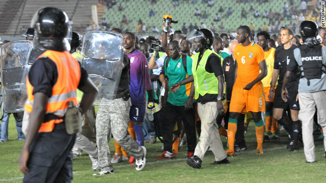 Saturday's playoff matches were overshadowed by events in Dakar, where riots caused Senegal's clash with Ivory Coast to be abandoned.