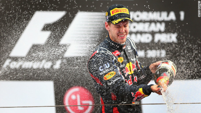 Red Bull driver Sebastian Vettel is Formula One's youngest ever double world champion.
