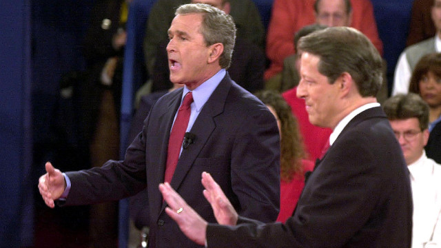 In 2000, Vice President Al Gore invaded GOP rival George W. Bush's personal space, which made for an uncomfortable moment.