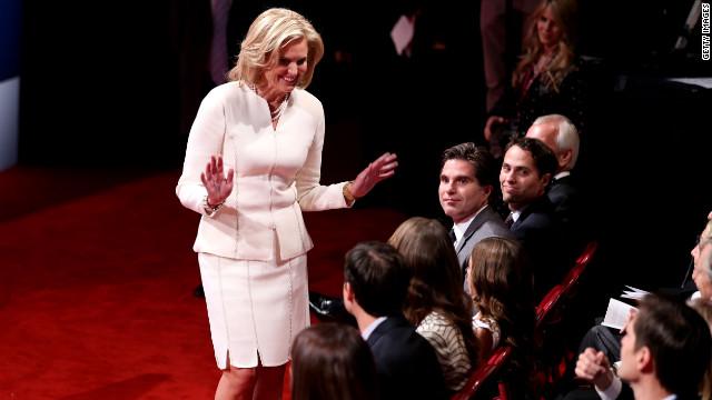 For the first debate, Ann Romney opted for an all-ivory skirt suit that &quot;references a fresh, new outlook&quot; said color theory professor Emily Barnett.