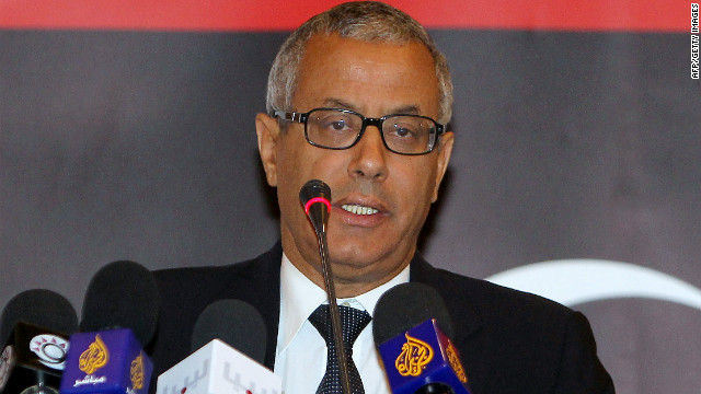 Ali Zeidan addresses a conference in Doha, Qatar, on May 11, 2011.