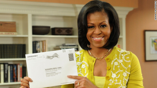 First lady votes; Obama to cast ballot in Chicago