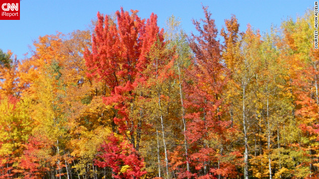 Jason Asselin captured this photo of <a href='http://ireport.cnn.com/docs/DOC-850833'>Wisconsin's fall color</a> while on a leaf-peeping trip with his motorcycle club.