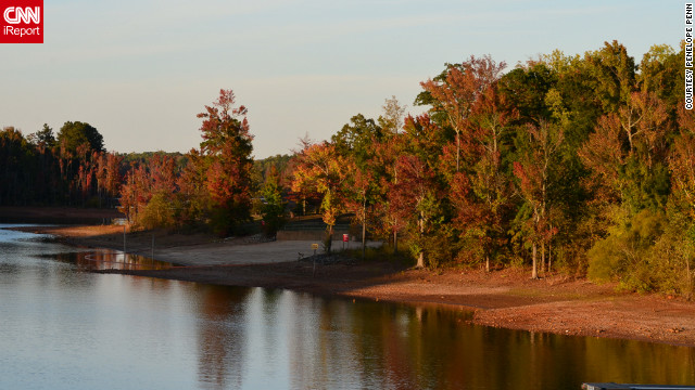 A range of fall colors is reflected in this lake in <a href='http://ireport.cnn.com/docs/DOC-858299'>Clarksville, Virginia</a>.