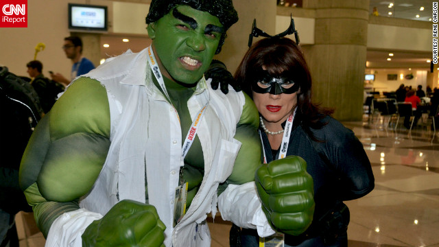 "Rene Carson, a photographer from Jersey City, New Jersey, is a huge fan of comics, film and television. ""Pop culture is one of my favorite subjects to shoot."" This time he caught another mixed pairing of ""The Avengers' "" Hulk and another Catwoman.<br/><br/><a href='http://ireport.cnn.com/docs/DOC-857554'>Check out more photos on Rene Carson's iReport</a>.<br/><br/>"