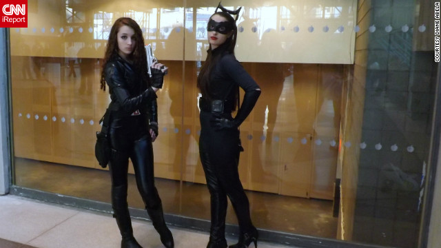 "Here's an unusual pairing, Black Widow from Marvel's ""Avengers"" and Catwoman from ""The Dark Knight Rises,"" a DC Comics character. At the same time, that's not so unusual a sight for conventions such as New York Comic Con.<br/><br/><a href='http://ireport.cnn.com/docs/DOC-857175' target='_blank'>Photos can be seen on this iReport</a>."