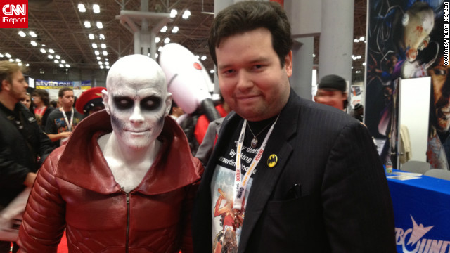 Of course, there were plenty of amazing costumes to be found in the convention hall as well. Alan Kistler, a Comic Con veteran of many years, came upon this impressive Deadman costume and had to get in the photo himself.<br/><br/><a href='http://ireport.cnn.com/docs/DOC-858081' target='_blank'>Check out more images on Alan Kistler's iReport</a>.