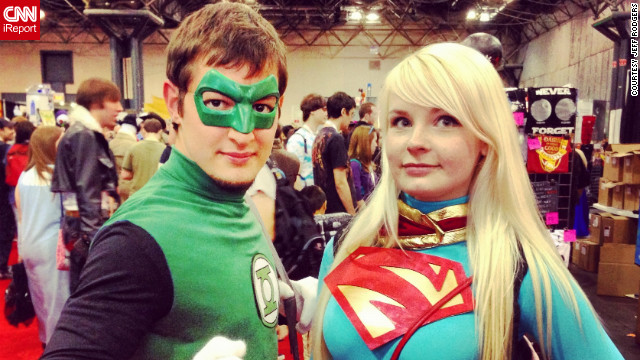 "Jeff Rodgers, a photographer from Memphis, Tennessee, attended his fourth Comic Con this year, but missed last year. He could definitely tell a big difference in the size of the convention. ""They added a day and essentially made it twice as big."" He snapped a photo of these two dressed as Green Lantern and Supergirl.<br/><br/><a href='http://ireport.cnn.com/docs/DOC-857942' target='_blank'>Check out the photo on Jeff Rodger's iReport</a>.<br/><br/>"