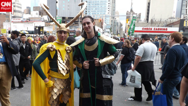"The annual New York Comic Con gets bigger each year. More than 100,000 fans of comic books, science fiction and fantasy were in attendance this past weekend, and it's a great opportunity for photographers to catch them in costume as some of their favorite heroes and villains, in a natural setting in New York. Here we have not one but two Lokis -- the villain from the hit movie, ""The Avengers"" -- no doubt plotting some a new way to take over the city, if not the world.<br/><br/><a href='http://ireport.cnn.com/docs/DOC-857738' target='_blank'>See photos on Diane Abela's iReport</a>."