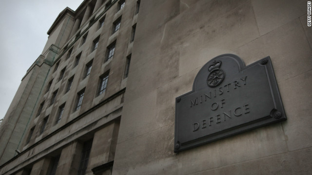 The Ministry of Defence in London is pictured on October 13, 2010.