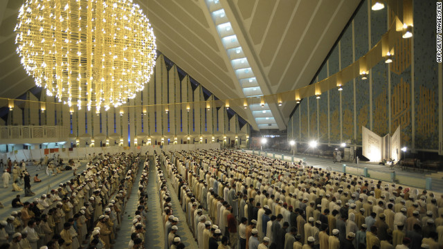 People pray inside the Faisal Mosque in the capital. Alam says Pakistan remains &quot;a state living on the edge of being labeled a failure, with a population that largely believes America is indeed the Satan.&quot;