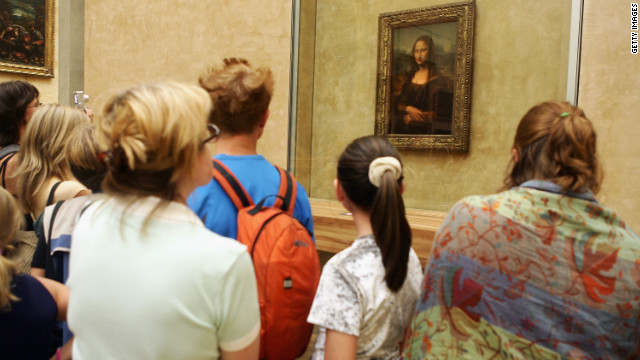 "Leonardo da Vinci's 16th Century masterpiece ""Mona Lisa,"" on display in Paris's Musee du Louvre, is one of the most visited artworks in the world. The famous portrait is thought to be of Lisa Gherardini, the wife of Francesco del Giocondo."