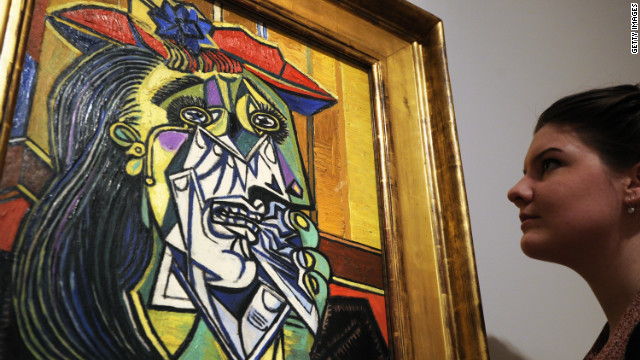 Pablo Picasso's 1937 painting &quot;Weeping Woman&quot; depicted long-time mistress Dora Maar. Their notoriously tempestuous relationship lasted nine years.